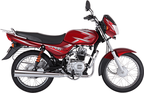 Black and Red Color Bajaj CT 100cc Motorcycle