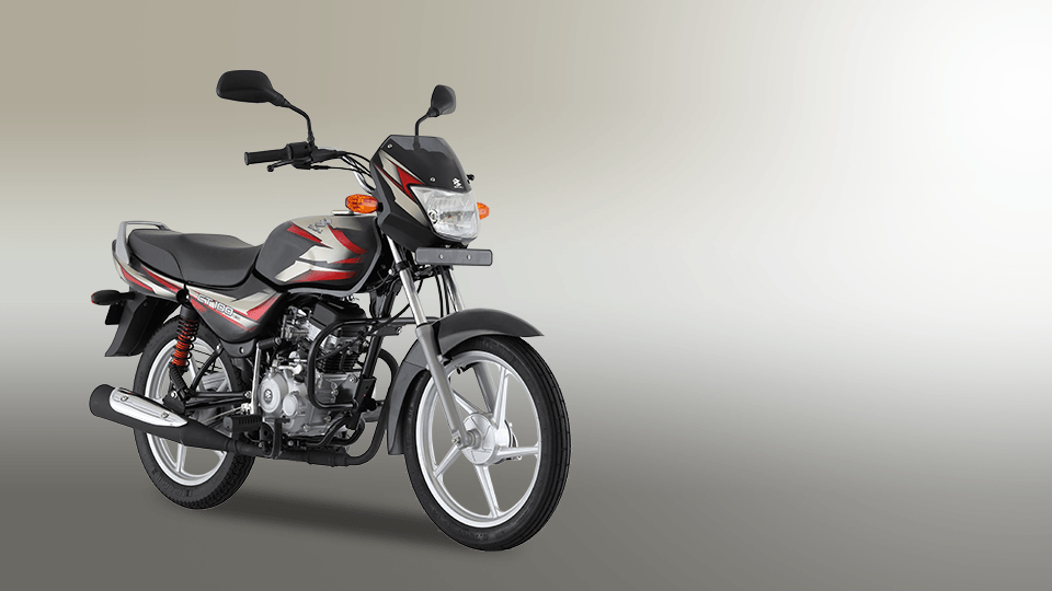Ebony and Red Color Bajaj CT 100cc ES Alloy Motorcycle