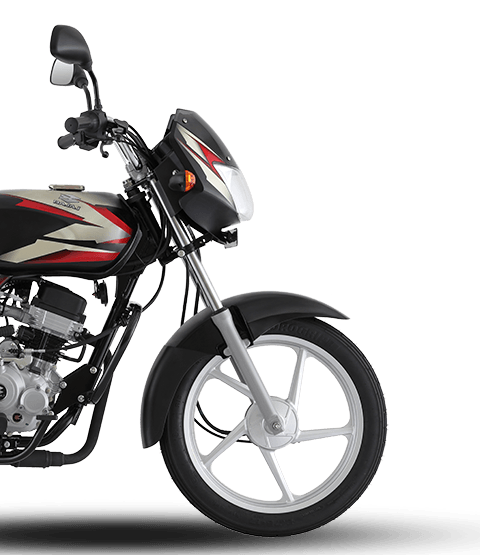 Front Half Side View of Bajaj CT100 ES Alloy Motorcycle for Mobile
