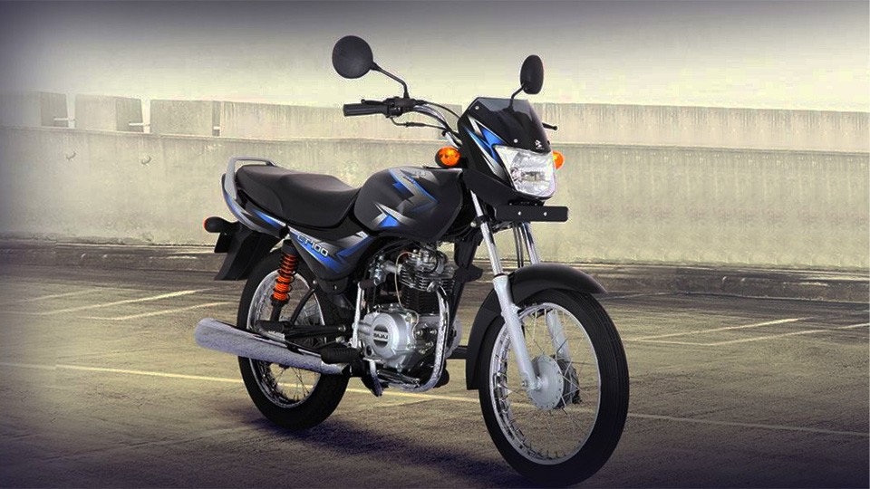 Black and Blue Color Bajaj CT 100cc Motorcycle