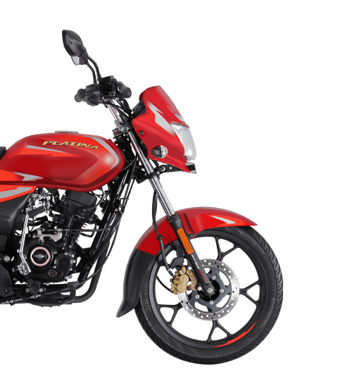 Cocktail Wine Red Color Bajaj Platina 110 H Gear Motorcycle