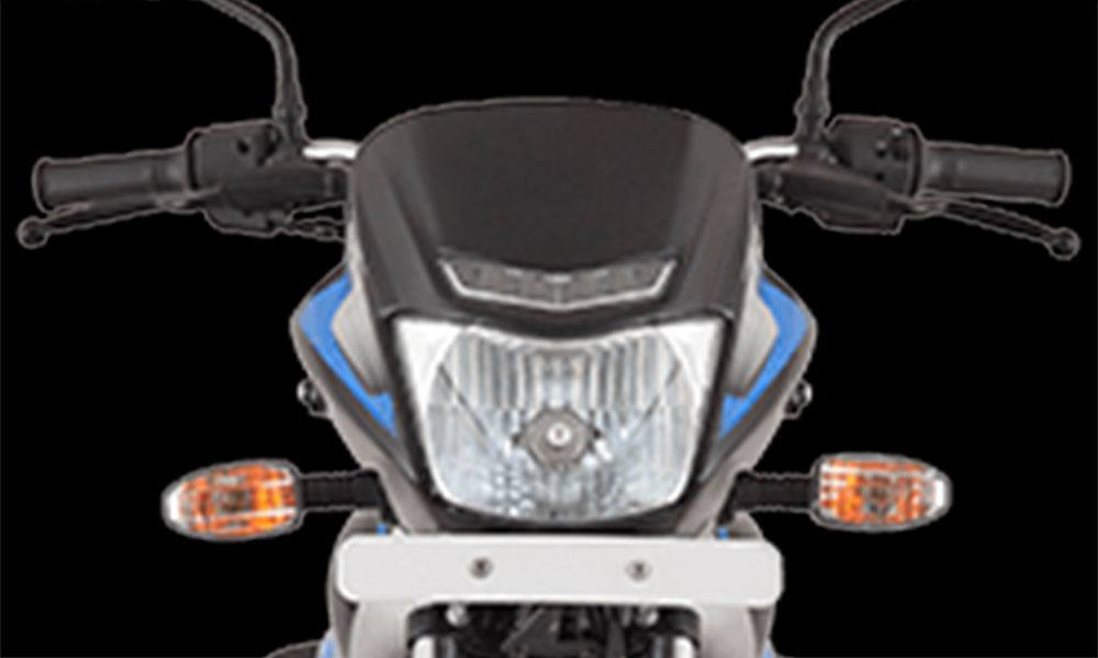 Black And Blue Color Bajaj Platina 100cc ES LED DRL front Head Lamp and Indicator