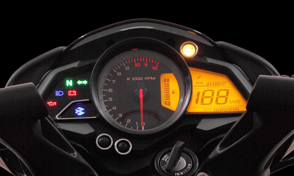 Black and Red Color Bajaj Pulsar NS 160cc Twin Disk Motorcycle Dashboard
