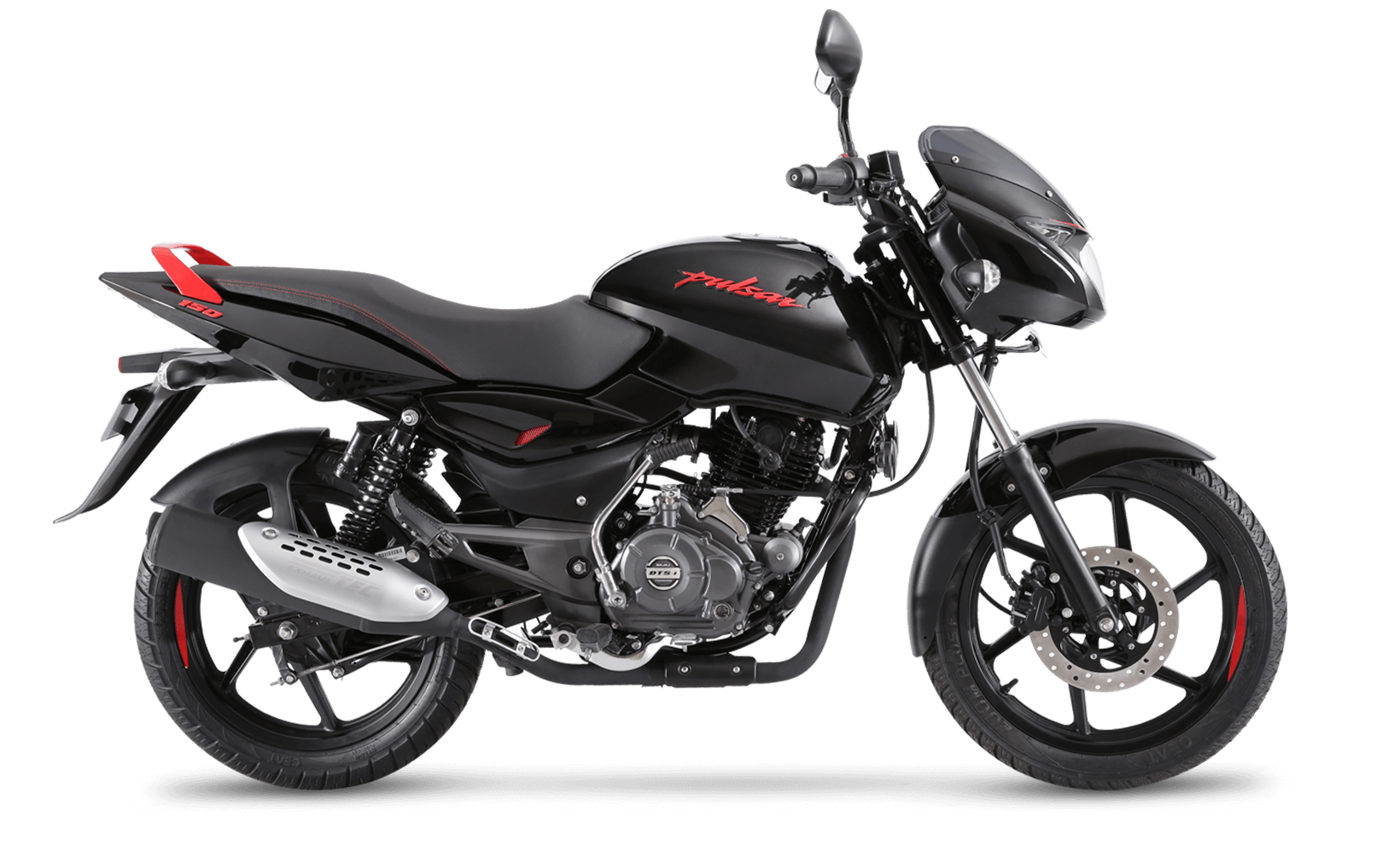 Black and Red Bajaj Pulsar 150cc Neon Motorcycle