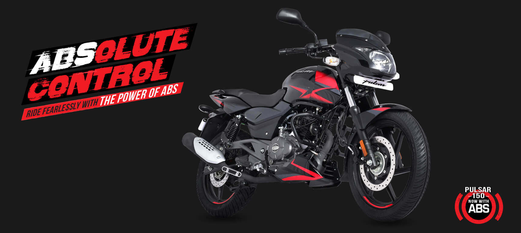 Black and red color Bajaj Pulsar 150 Twin Disk Motorcycle with ABS