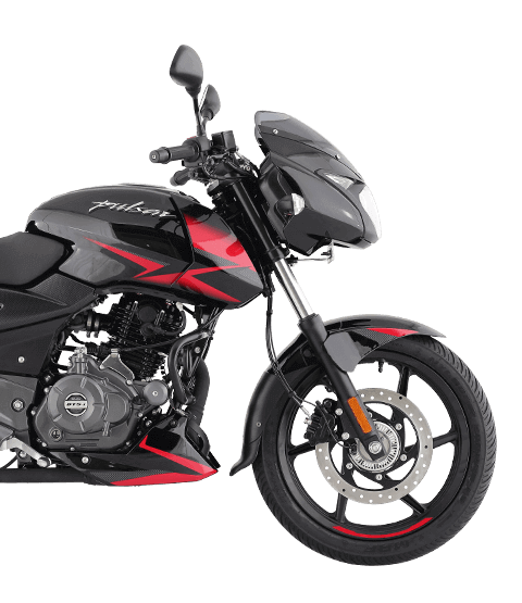 Black and Red Bajaj Pulsar 150cc Twin Disk with ABS Motorcycle for mobile view