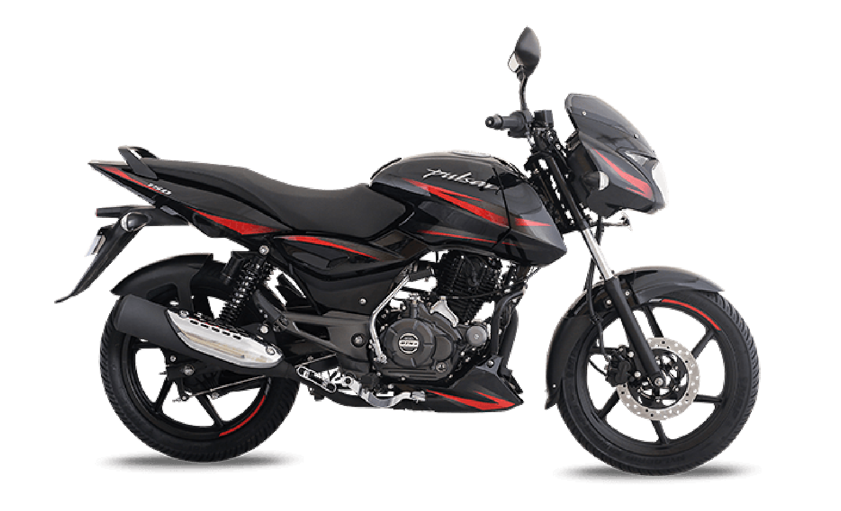 Black and Red Bajaj Pulsar 150cc Motorcycle