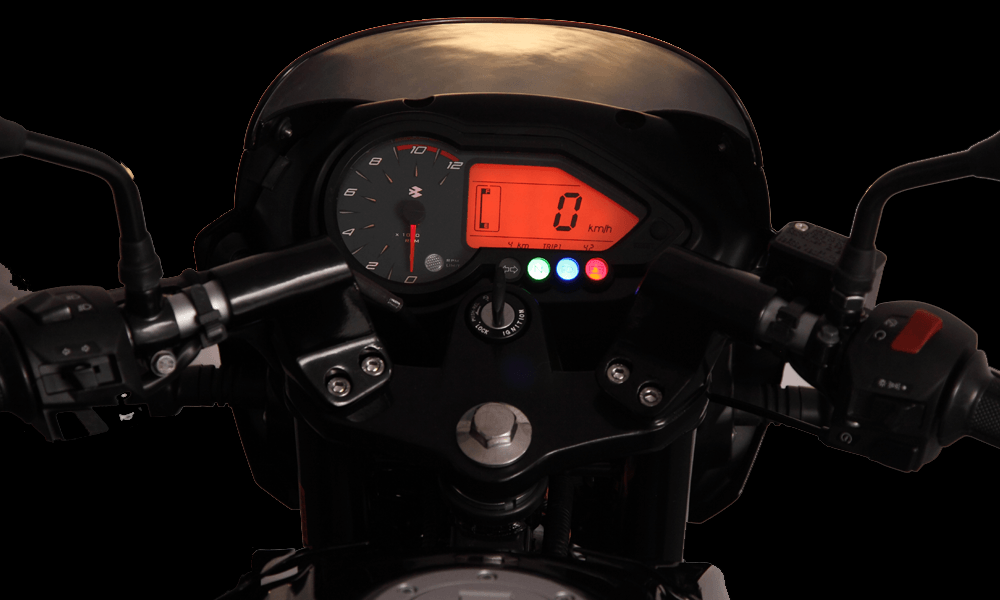 Black And Red Color Bajaj Pulsar 150cc Motorcycle Dashboard
