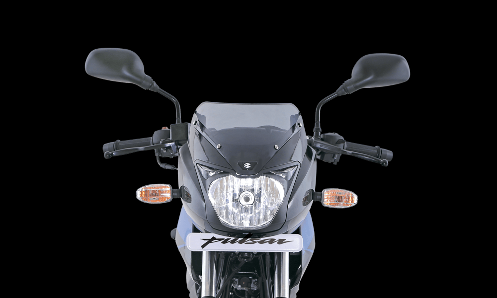 Black and Blue Color Bajaj Pulsar 150cc Motorcycle Front Headlamp