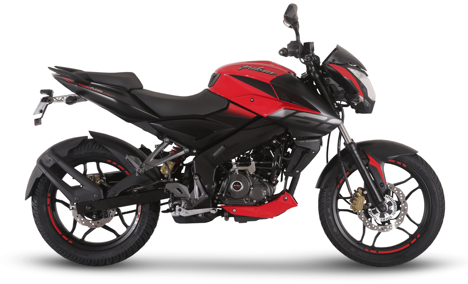 Black and Red Bajaj Pulsar NS 160 FI ABS
