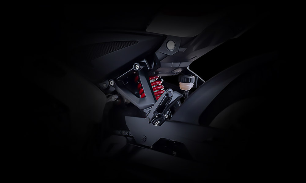Black and Red Color Bajaj Pulsar NS 160cc FI ABS Motorcycle Mono Suspension System