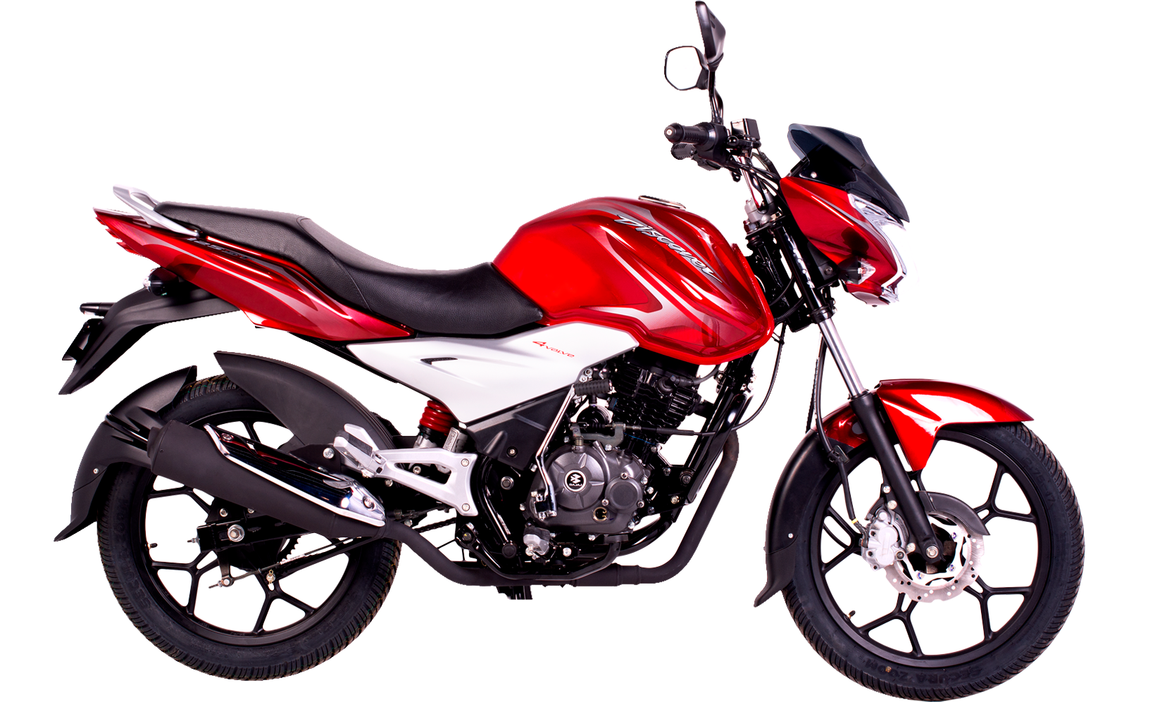 Moto Discover roja PNG