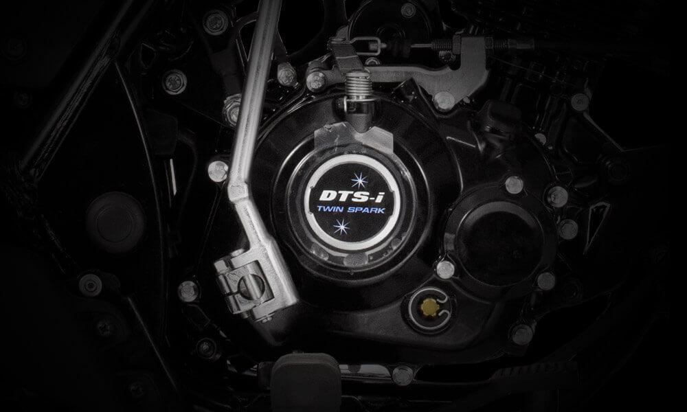 Bajaj Discover 125cc Disc Motorcycle's Twin Spark 4 Stroke Air Cooled DTSI Engine