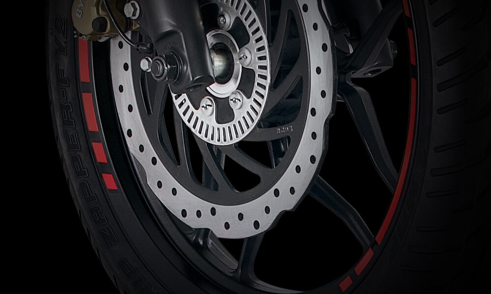 Bajaj Pulsar NS 160cc FI ABS Motorcycle Tyre and ABS Brake features