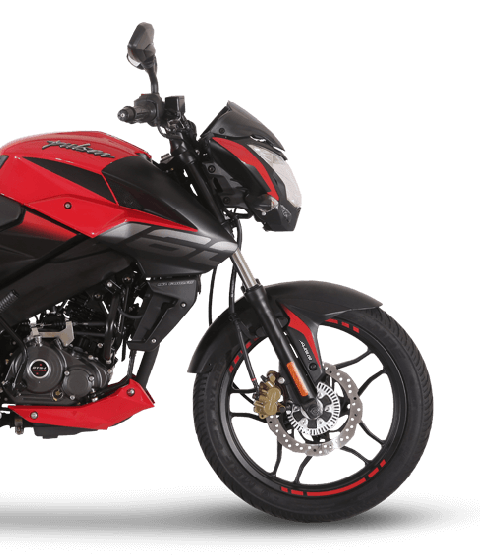 Black and Red Bajaj Pulsar NS 160cc Twin Disk ABS Motorcycle